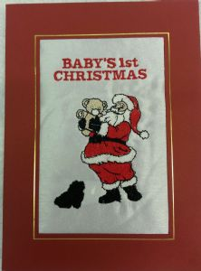 PERSONALISED SANTA'S TEDDY CHRISTMAS CARD